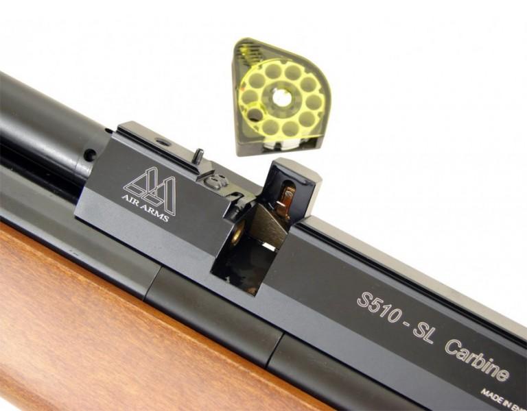 wiatrowka AA S510 45 55 port magazynka det big 768x600 Обзор Air Arms S510 SL