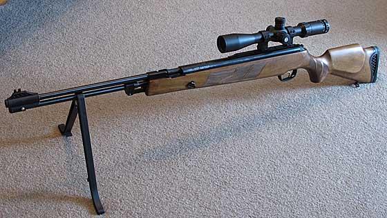 05 02 12 03 Hatsan Torpedo 155 underlever air rifle on bipod Обзор Hatsan Torpedo 155. Стрельба с оптическим прицелом, выводы
