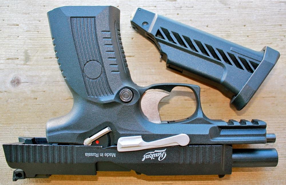 IZH MP 655K 2 Пневматический гибрид от ИЖ Мех   пистолет MP 655K