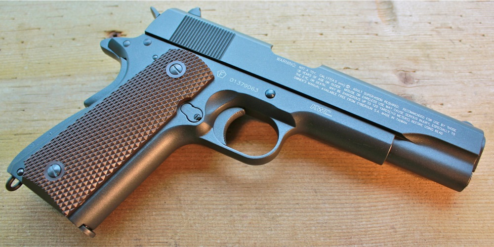 Tanfoglio Witness 1911 Left Side Angle Cybergun KWC Tanfoglio Witness 1911