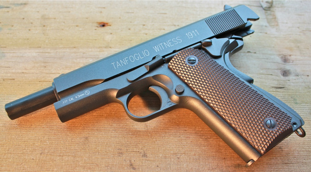 Tanfoglio Witness 1911 Left Side Open Cybergun KWC Tanfoglio Witness 1911