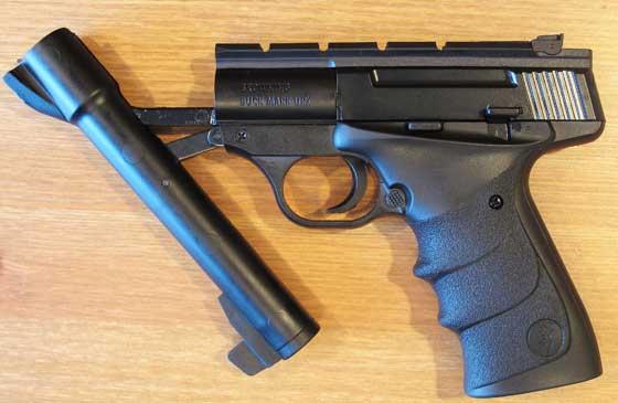 07 19 12 02 Browning Buck Mark URX broken open Пневматический пистолет Umarex Browning Buck Mark URX