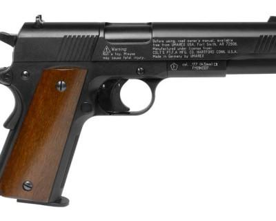 Colt 1911 Pellet Gun Wood Grips WAU1911BWood zm1 400x320 Colt 1911 pellet gun