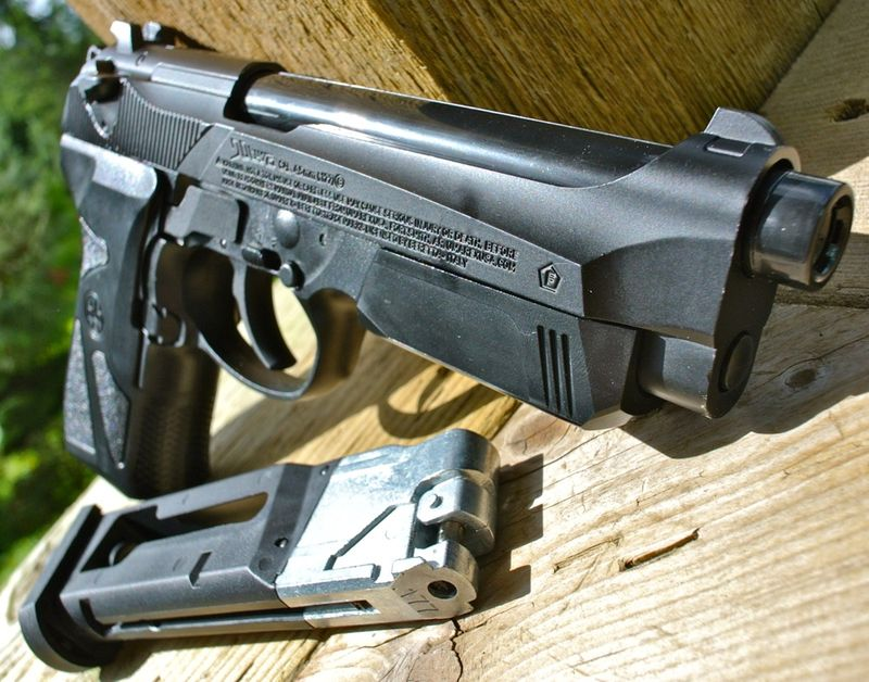 Umarex Beretta 90two Right Side Front Пневматический пистолет Umarex Beretta 90TWO