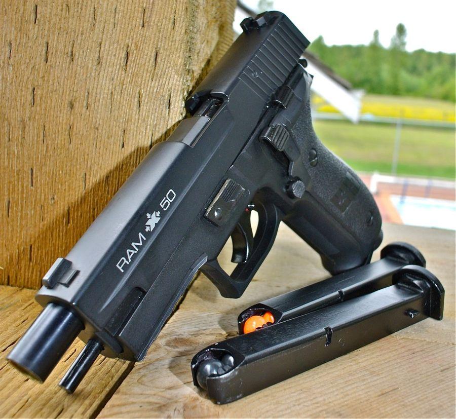 Rap4 RAM X50 Left Side Front 1 Пейнтбольный пистолет RAP4 RAM X50 (SIG P226)