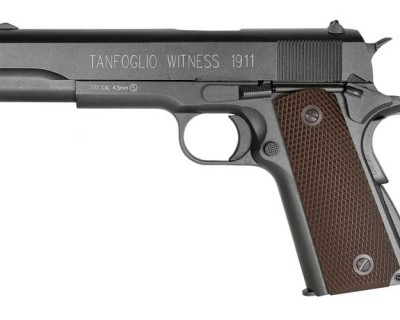 Tanfoglio Witness 1911 CO2 PC358003 pistol zm 400x320 Пневматический пистолет Tanfoglio Witness 1911 CO2 BB, коричневый