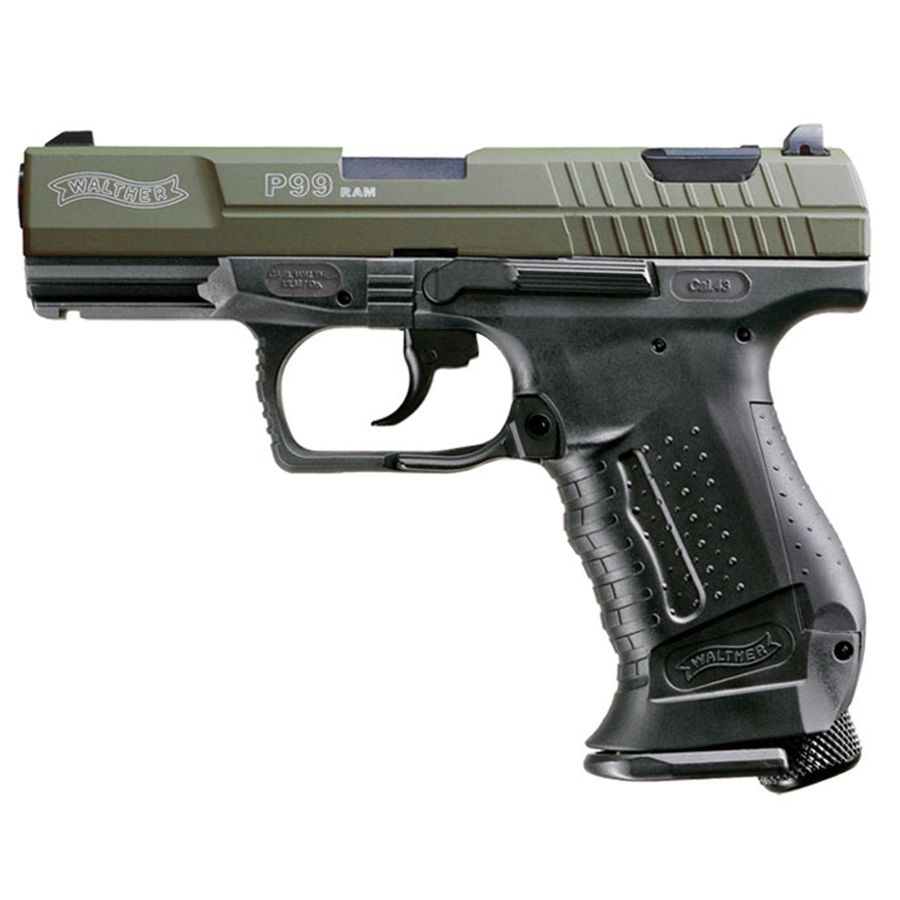 umarex walther p99 ram 43 cal co2 paintball pistol green 1 Пейнтбольный пистолет RAP4 RAM WALTHER P99
