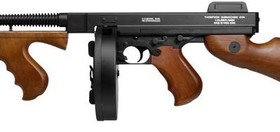 King Arms Thompson Chicago 1928 Drum CG43907 airsoft zm 400x189 Пистолет пулемет King Arms Thompson M1928 Airsoft Submachine Gun
