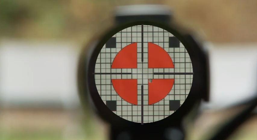 Pristrelka pritsela po misheni 1 vy strel Как пристрелять оптический прицел за два выстрела