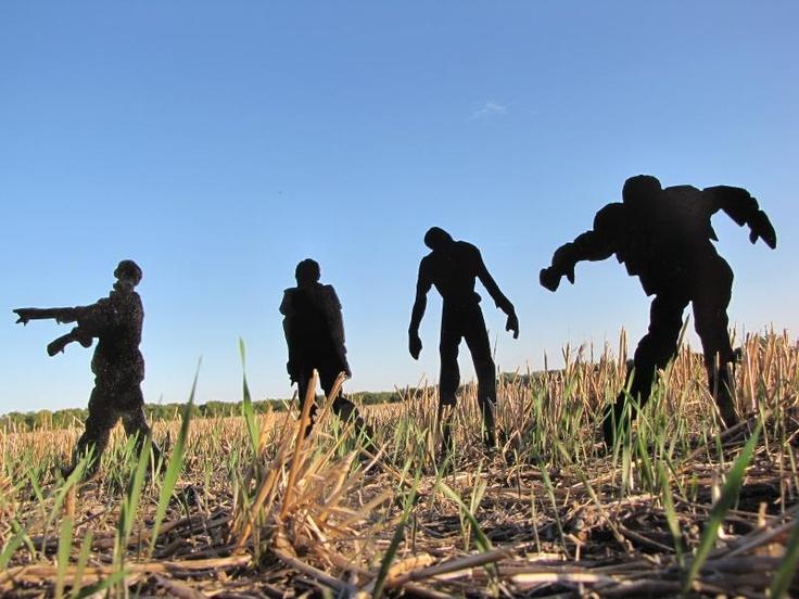 zombie steel targets Мишени для филд таргета в стиле Зомбиапокалипсис