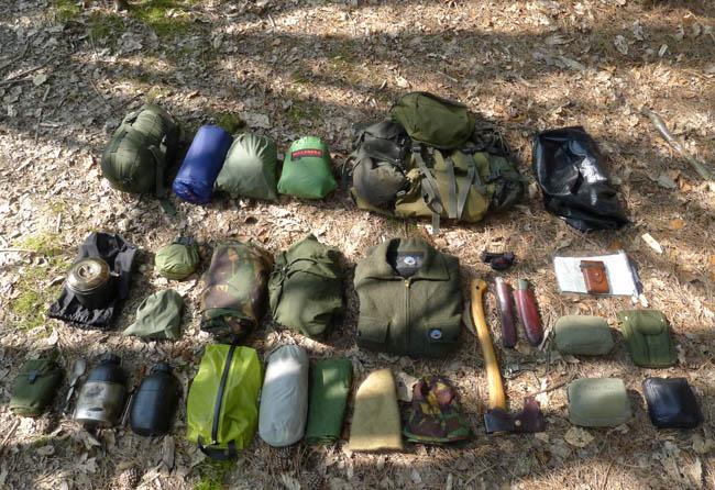 Bushcraft Camping Outfit 650 31 предмет для выживания в лесу