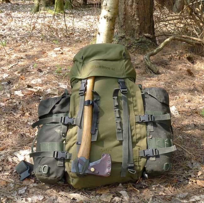 Bushcraft Rucsack packed 650 31 предмет для выживания в лесу