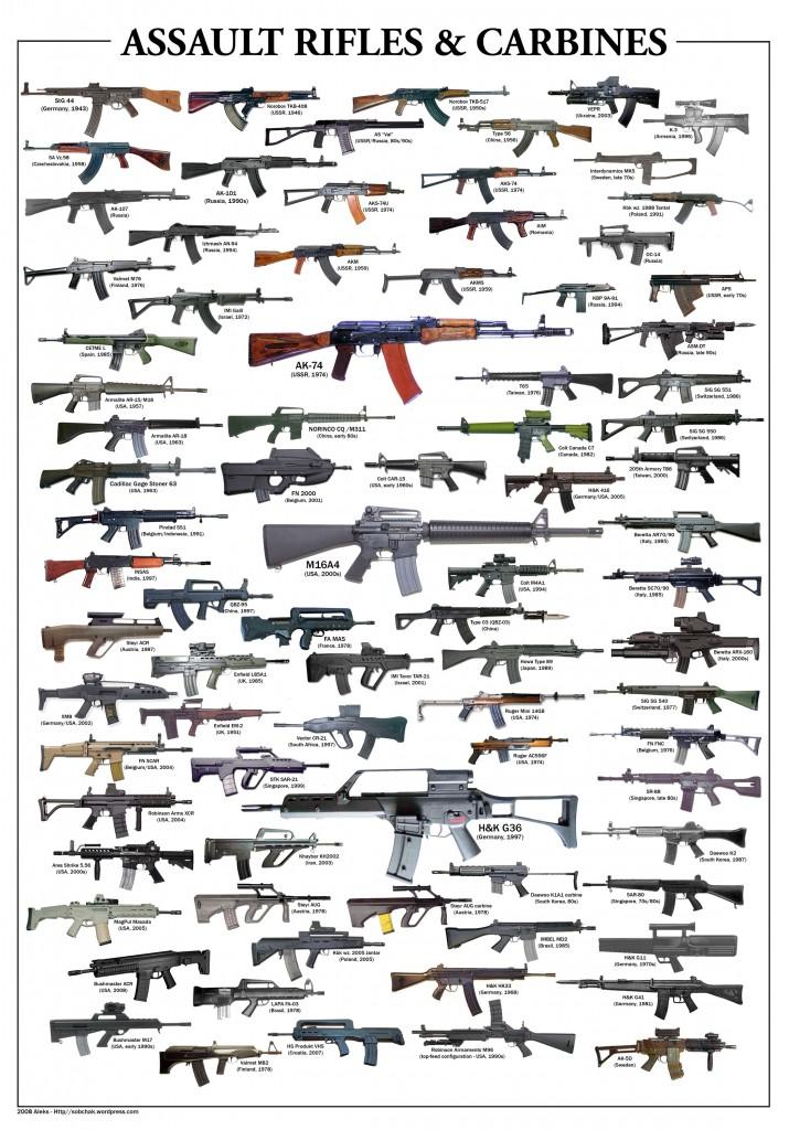 rifles 715x1024 Штурмовые винтовки и карабины
