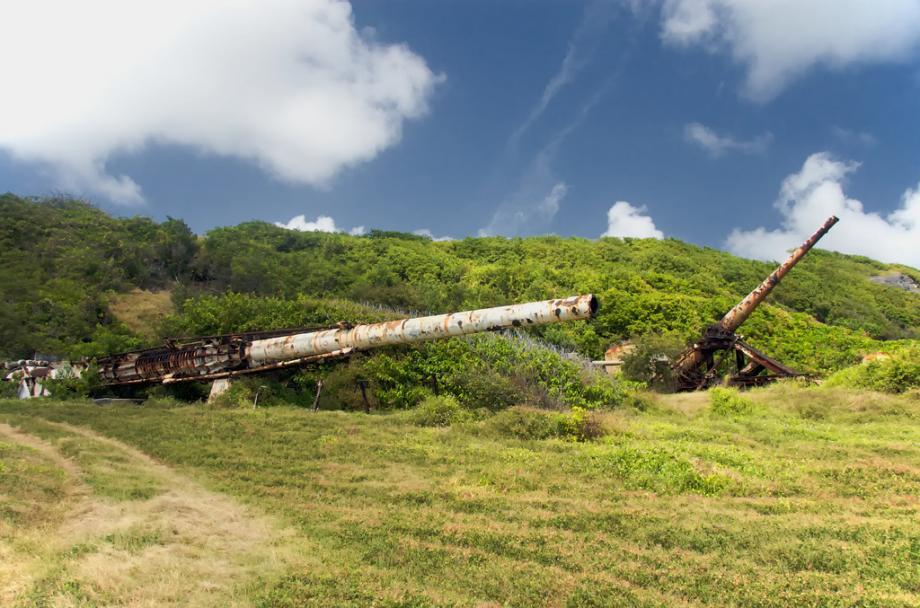 space gun2 1 Заброшенная космическая пушка ржавеет в джунглях Барбадоса