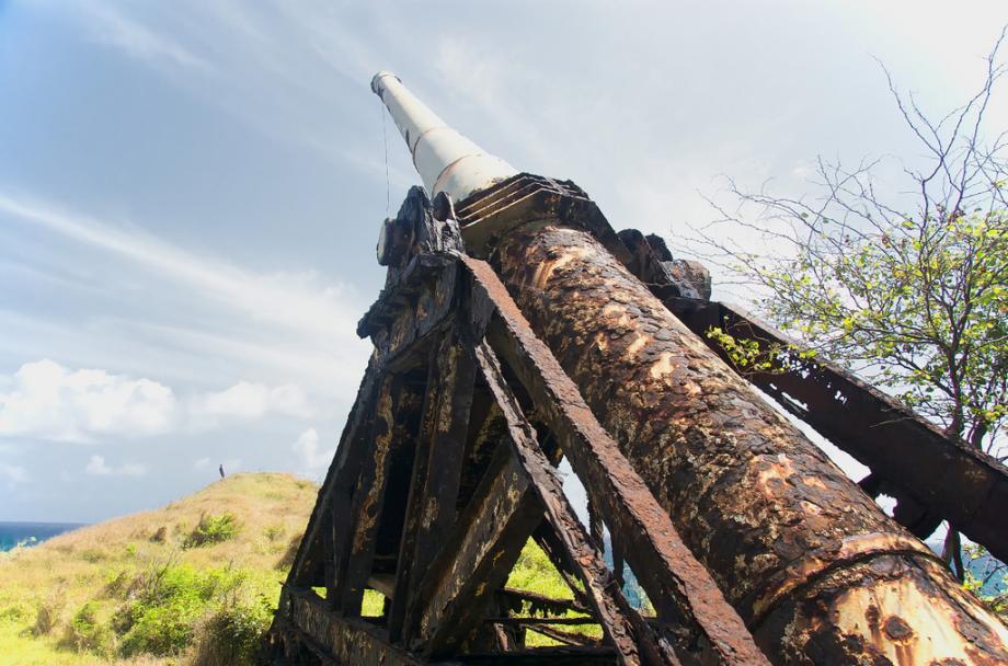 space gun2 2 Заброшенная космическая пушка ржавеет в джунглях Барбадоса